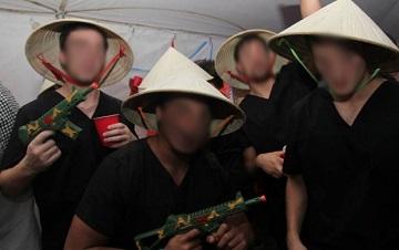 Ăn mặc như du kích Việt Cộng (Ảnh từ Twitter)